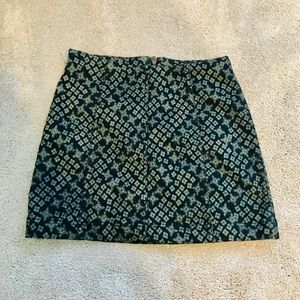 Free People Black & Gold Mini Skirt- Size 2